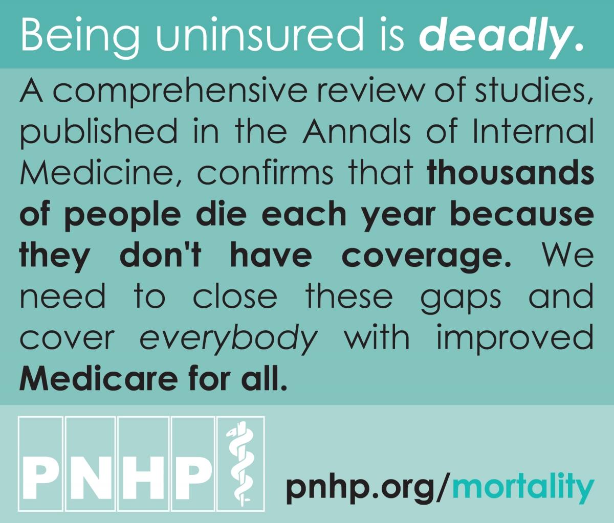 Lack of health insurance and U.S. mortality