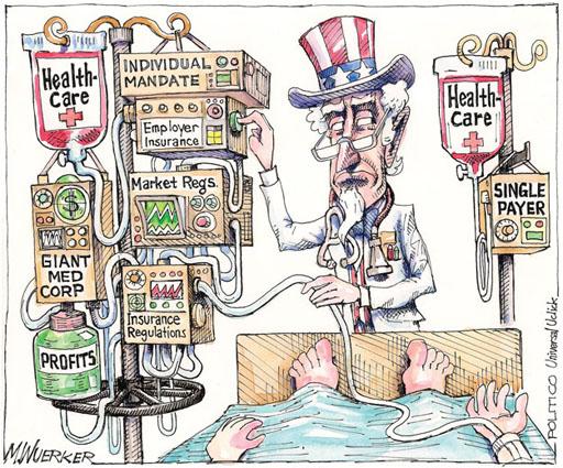 U.S. health policy in a single cartoon - PNHP