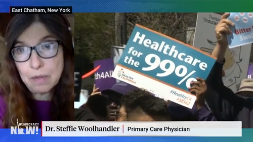 "Dr. Steffie Woolhandler on ""Democracy Now!"""